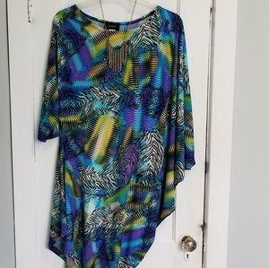 Tunic Dress w/ Animal Print  Colorful Size XXL